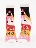 Blue Q Yes Girl Ladies Ankle Socks (SW657)