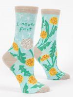 Blue Q I Never Fart Ladies Crew Socks (SW521)