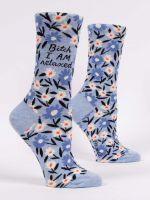 Blue Q...I Am Relaxed Ladies Crew Socks (SW516)