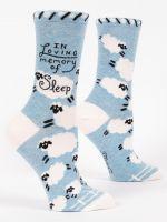 Blue Q Loving Memory of Sleep Ladies Crew Socks (SW522)