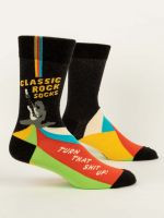 Blue Q Classic Rock Sucks Mens Crew Socks (SW880)
