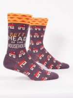 Blue Q Butthead...Mens Crew Socks (SW873)