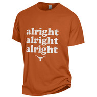 Texas Longhorn Alright Alright Alright Comfort Wash Tee (GDH100H)