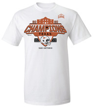 Texas Longhorn Alamo Bowl Champions Official On Field Tee With Score Added- AVAILABLE IN STORE NOW