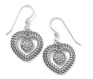 Brighton Portuguese Heart French Wire Earrings (JA7271)