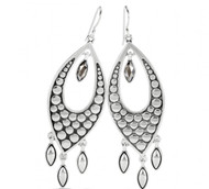 Brighton Pebble Disc Marquise Statement French Wire Earrings (JA7481)