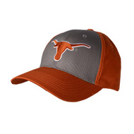 Texas Longhorn 2 Tone Grey/Orange White Edge Cap (2TONEGRAY-WHTOUTLINE)