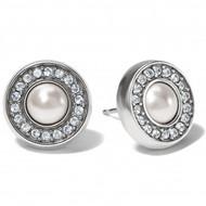 Brighton Meridian Silver/Pearl Post Earrings (