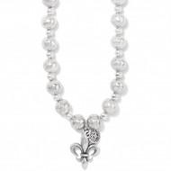 Brighton Ferrara Fleur De Lis Short Necklace (JM4000)