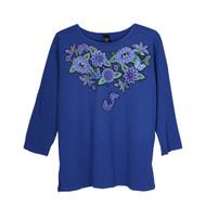 Sabaku Blue Butterflies 3/4 Sleeve Tee (394IND3/4S)