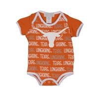 Texas Longhorn Infant Repeat Word Onesie (2026-WORDREPEAT)