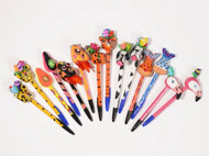 Consuela Paper Mache Topped Refillable Pens (7 Styles) (9577)