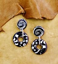 Treska All Ears Black & White Post Earrings (ALLE9421)