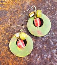 Treska Bali Hai Painted Wood Earrings (BAL8021)