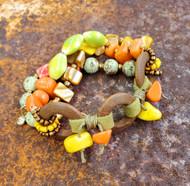 Treska Bali Hai Bead & Cord Stretch Bracelet (BAL8184)