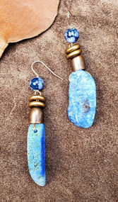 Treska Big Sky Stone Slice Earrings (BIG8051)