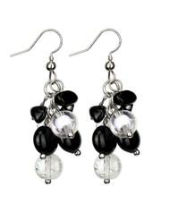 Treska Black & White Cluster Earrings (FFTR1981)