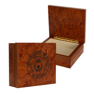 Texas Longhorn Rosewood University Seal Etched Box (3 Sizes)(WD)