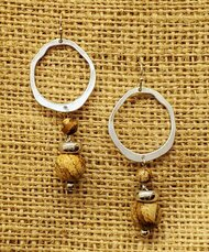 Treska Finds Linked Ring & Tan Stone Earrings (TRFF2011)