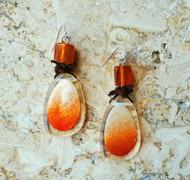 Treska Vintage Finds Texas Orange Drop Earrings (VFTR1461)