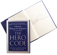 The Hero Code-Book (Signed by Admiral McRaven)