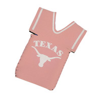 Texas Longhorn Pink Jersey Bottle Coozie