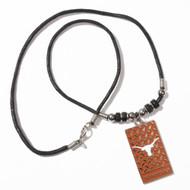 Texas Longhorn License Plate Necklace (LICENSEPLATENECK)