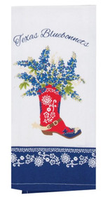 Boot Full of Bluebonnets Kitchen Towel (R3763)