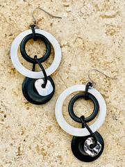 Athena Linked Rings Drop Earrings (ATH23021)