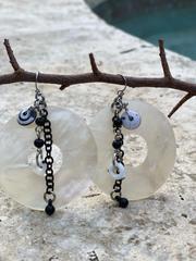 Treska Athena Large Ring Drop Earrings (ATH23061)