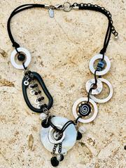 Treska Athena Adjustable Short Chunky Link Bead Necklace (ATH23117)