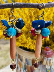 Treska Yellowstone Hairpipe Cluster Earrings (YEL45041)