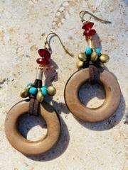 Treska Yellowstone Ring Drop Earrings (YEL45071)