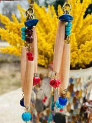 Treska Yellowstone Hairpipe Cluster Earrings (YEL45081)