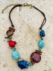 Treska Yellowstone Adjustable Short Beaded Necklace (YEL45147)