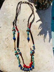 Treska Yellowstone Adjustable Long 2 Strand Beaded Necklace (YEL45227)
