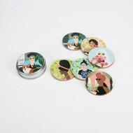 Women Coaster Set (Set of 6) (YR0012)