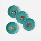 """Longhorn """"Paper"""" Melamine Plates (Set of 4) (ME0525)"""