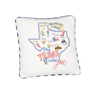 It's a Texas Thang Y'all  Embroidered Pillow (F2258)