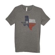 Woodgrain Texas Shaped Unisex Tee (6070TSHG)