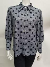 Nally & Millie Pola Dot Button Front Blouse (N864326C)