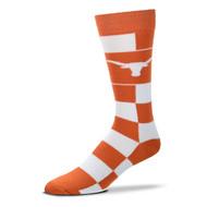 Texas Longhorn Jumbo Check Socks (V-505-7-U36-OSF)
