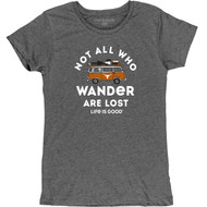Texas Longhorn Ladies Life is Good Wander Tee (LIG5301HTTGRY)