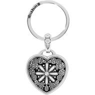 Brighton Floral Heart Locket Key Fob (E12192)