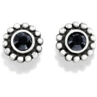 Brighton Mini Post Black Twinkle Earrings (J20493)