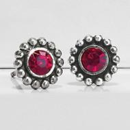 Brighton Mini Post Garnet Color Twinkle Earrings (J20497)