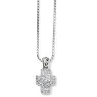Brighton Sacred Heart Reversible Cross Necklace (J49262)
