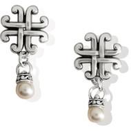 Brighton Taos Pearl Cross Petite Earrings (JA7723)