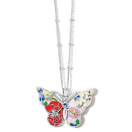Brighton Blossom Hill Butterfly Petite Necklace (JA4723)
