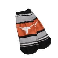 Texas Longhorn Marquis Addition Stripe No Show Socks (2 Sizes) (V-529RS-U36)
